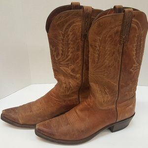 Lucchese 1883 Mens Tan Mad Dog Goat Cowboy Boots